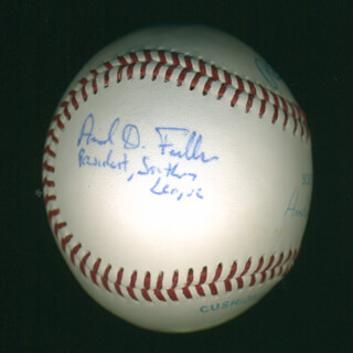 ARNOLD D. FIELKOW - AUTOGRAPHED SIGNED BASEBALL