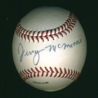 JERRY McMORRIS - AUTOGRAPHED SIGNED BASEBALL