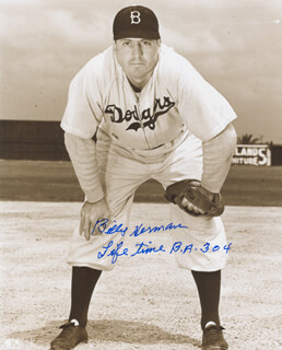 BILLY HERMAN - AUTOGRAPHED SIGNED PHOTOGRAPH