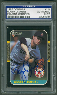 ROGER CLEMENS - TRADING/SPORTS CARD SIGNED