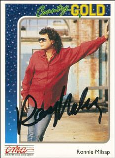 RONNIE MILSAP - TRADING/SPORTS CARD SIGNED