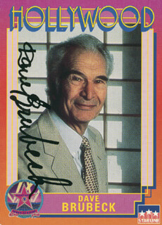 DAVE BRUBECK - TRADING/SPORTS CARD SIGNED