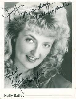 KELLEY BAILEY - AUTOGRAPHED INSCRIBED PHOTOGRAPH