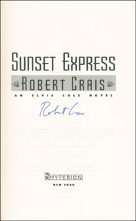 ROBERT CRAIS - BOOK SIGNED  - HFSID 291992