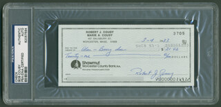 Autographs: BOB COUSY - CHECK SIGNED 03/04/1983