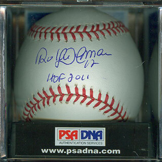 ROBERTO ALOMAR - ANNOTATED BASEBALL SIGNED