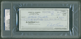BOBBY THOMSON - AUTOGRAPHED SIGNED CHECK 08/14/1995