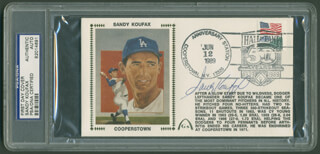 SANDY KOUFAX - COMMEMORATIVE CACHET SIGNED