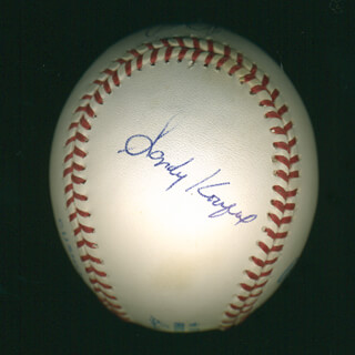 SANDY KOUFAX - AUTOGRAPHED SIGNED BASEBALL CO-SIGNED BY: BOB FELLER, NOLAN RYAN