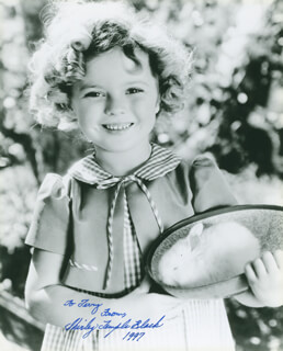 SHIRLEY TEMPLE - AUTOGRAPHED INSCRIBED PHOTOGRAPH 1997