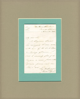 SIR JAMES PAGET - AUTOGRAPH LETTER SIGNED 04/20/1850