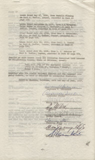 MONTGOMERY CLIFT - DOCUMENT SIGNED 06/01/1957 CO-SIGNED BY: HARPO (ADOLPH) MARX, LAURENCE W. BEILENSON, GREGORY PECK, ALEXANDER TUCKER, GUY WARD, GEORGE CHASIN, CHAUNCEY STARR