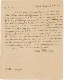BRIGADIER GENERAL JOHN ARMSTRONG JR. - AUTOGRAPH LETTER SIGNED 12/08/1811