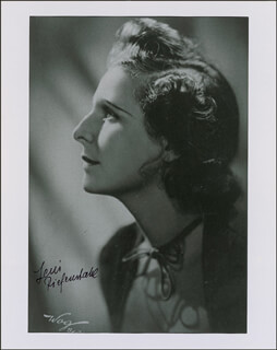 LENI RIEFENSTAHL - AUTOGRAPHED SIGNED PHOTOGRAPH