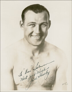 JACK SHARKEY - AUTOGRAPHED INSCRIBED PHOTOGRAPH