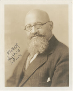 ALFRED HERTZ - AUTOGRAPHED SIGNED PHOTOGRAPH 02/28/1933