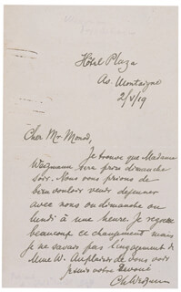 PRESIDENT CHAIM WEIZMANN (ISRAEL) - AUTOGRAPH LETTER SIGNED 05/02/1919