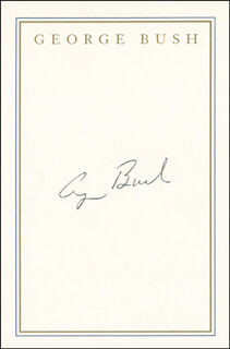 Autographs: PRESIDENT GEORGE H.W. BUSH - BOOK PLATE SIGNED