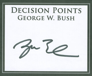 PRESIDENT GEORGE W. BUSH - BOOK PLATE SIGNED  - HFSID 292146