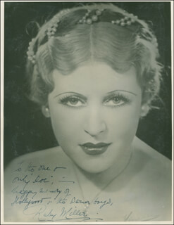 RUBY MILLER - AUTOGRAPHED INSCRIBED PHOTOGRAPH