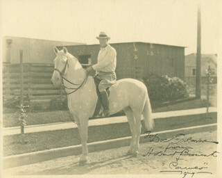 HOBART BOSWORTH - AUTOGRAPHED INSCRIBED PHOTOGRAPH 1929