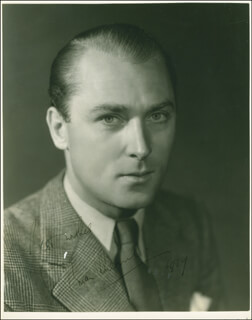 BRIAN AHERNE - AUTOGRAPHED SIGNED PHOTOGRAPH 1934
