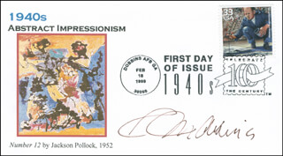 ROBERT INDIANA - FIRST DAY COVER SIGNED