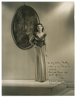 ILKA CHASE - AUTOGRAPHED INSCRIBED PHOTOGRAPH 11/1940