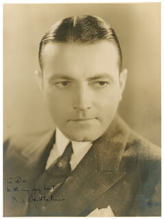 Autographs: RICHARD BARTHELMESS - INSCRIBED PHOTOGRAPH SIGNED