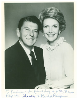 PRESIDENT RONALD REAGAN - AUTOGRAPHED INSCRIBED PHOTOGRAPH CO-SIGNED BY: FIRST LADY NANCY DAVIS REAGAN