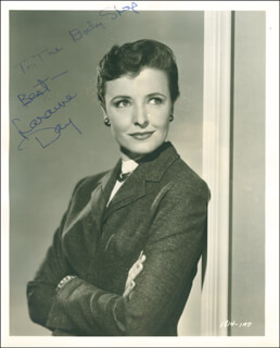 LARAINE DAY - AUTOGRAPHED INSCRIBED PHOTOGRAPH