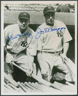 JOE DIMAGGIO - AUTOGRAPHED SIGNED PHOTOGRAPH CO-SIGNED BY: BILL DICKEY