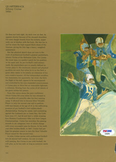 JOHNNY UNITAS - MAGAZINE PAGE SIGNED