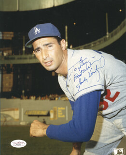 SANDY KOUFAX - AUTOGRAPHED INSCRIBED PHOTOGRAPH