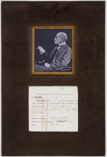 RUDYARD KIPLING - DOCUMENT DOUBLE SIGNED 05/11/1910