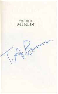 THOMAS ARCHIBALD (T.A.) BARRON - BOOK SIGNED