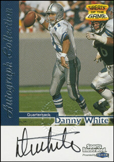 DAN WHITE - TRADING/SPORTS CARD SIGNED