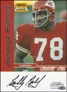 Autographs: BOBBY BELL - TRADING/SPORTS CARD SIGNED
