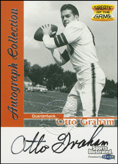 OTTO GRAHAM - TRADING/SPORTS CARD SIGNED