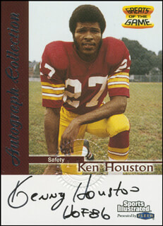 KENNY HOUSTON - TRADING/SPORTS CARD SIGNED