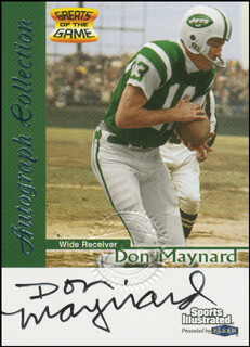 DON MAYNARD - TRADING/SPORTS CARD SIGNED