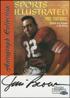 JIM BROWN - TRADING/SPORTS CARD SIGNED