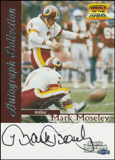 MARK MOSELEY - TRADING/SPORTS CARD SIGNED