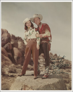 ROY ROGERS - AUTOGRAPHED SIGNED PHOTOGRAPH CO-SIGNED BY: DALE EVANS