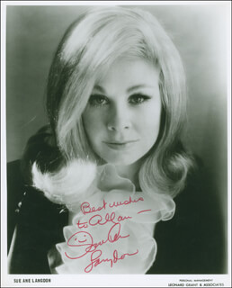 SUE ANE LANGDON - AUTOGRAPHED INSCRIBED PHOTOGRAPH