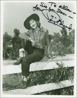 PENNY EDWARDS - AUTOGRAPHED INSCRIBED PHOTOGRAPH