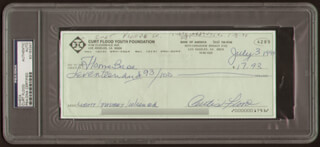 CURT FLOOD - AUTOGRAPHED SIGNED CHECK 07/03/1994
