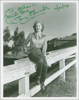 PENNY EDWARDS - AUTOGRAPHED INSCRIBED PHOTOGRAPH 07/26/1978