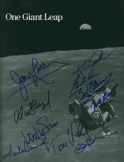 Autographs: REAR ADMIRAL ALAN B. SHEPARD JR. - PROGRAM SIGNED CO-SIGNED BY: COLONEL FRANK BORMAN, TOM HANKS, COLONEL GORDON COOPER JR., CAPTAIN WALLY M. SCHIRRA, COLONEL BUZZ ALDRIN, CAPTAIN CHARLES PETE CONRAD JR., CAPTAIN JAMES A. LOVELL, CAPTAIN KATHRYN D. SULLIVAN, COLONEL GUION S. GUY BLUFORD JR.