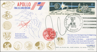 CAPTAIN GENE CERNAN - FIRST DAY COVER SIGNED